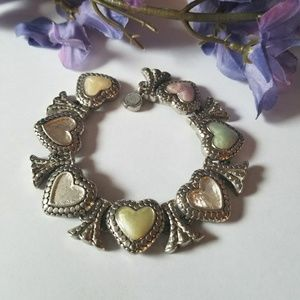 Beautiful VTG Heart Bracelet